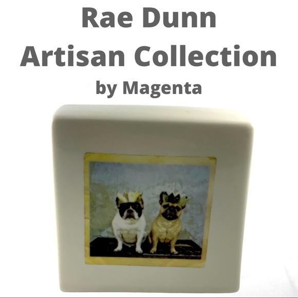 Rae Dunn Artisan Collection cube, paperweight